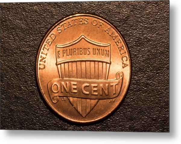 One Red Cent Metal Print by S Cass Alston