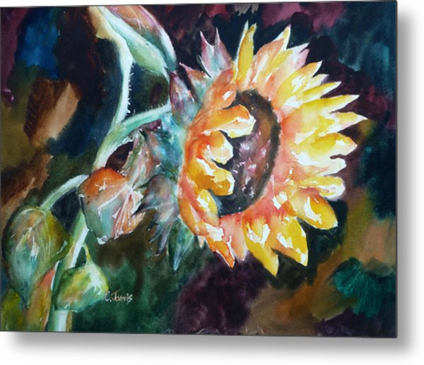 One Sunflower Metal Print