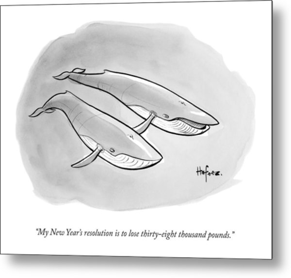 One Whale Says To Another Metal Print