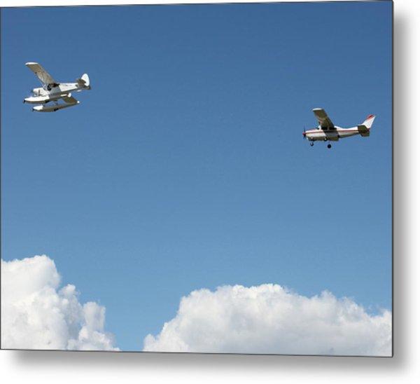 Ongoing Flight  Metal Print by Mavis Reid Nugent