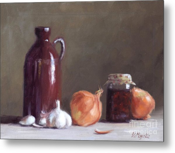 Onions And Sundried Tomatoes Metal Print