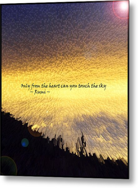 Only From The Heart Metal Print