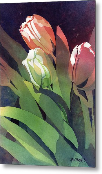 Only Three Tulips Metal Print