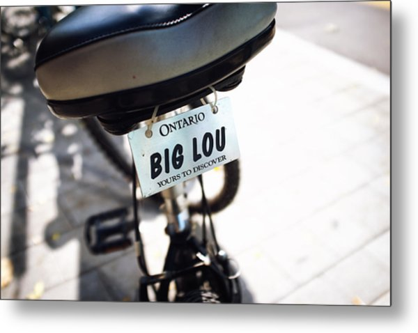 Ontario Bicycle Plate Metal Print by Tanya Harrison