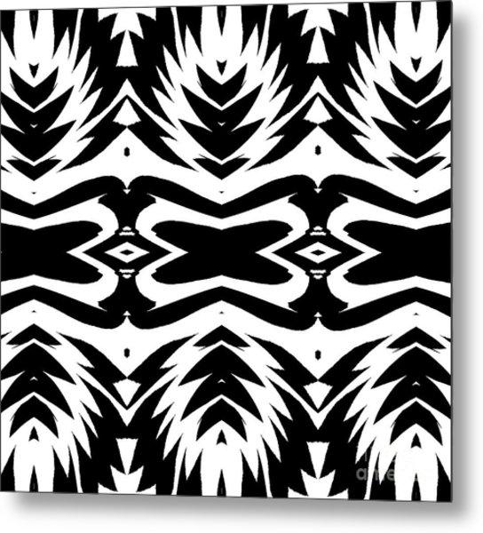 Pattern Black White No.232. Metal Print by Drinka Mercep