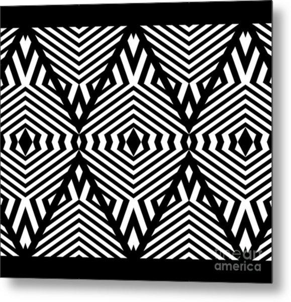 Op Art Black White Pattern Print No.336. Metal Print by Drinka Mercep
