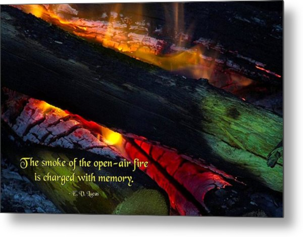 Open Air Fires Metal Print by Mike Flynn