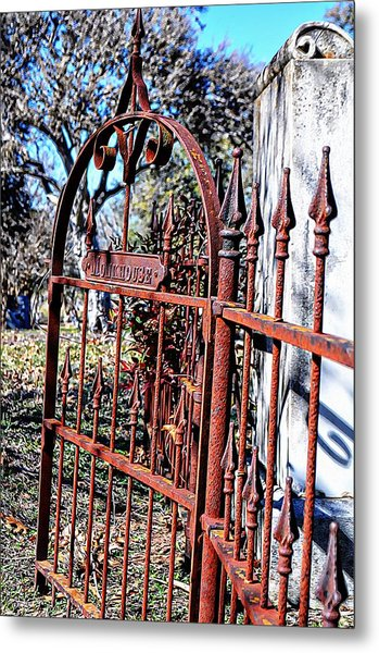 Open Gate Metal Print by Kelly Kitchens