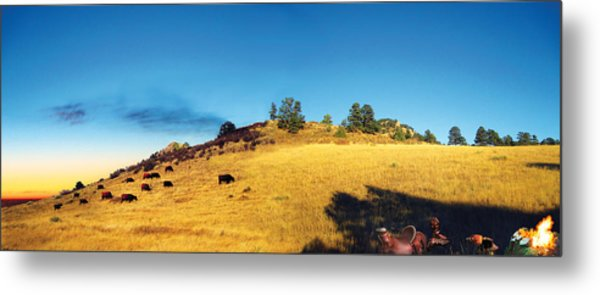 Open Range Metal Print by Ric Soulen