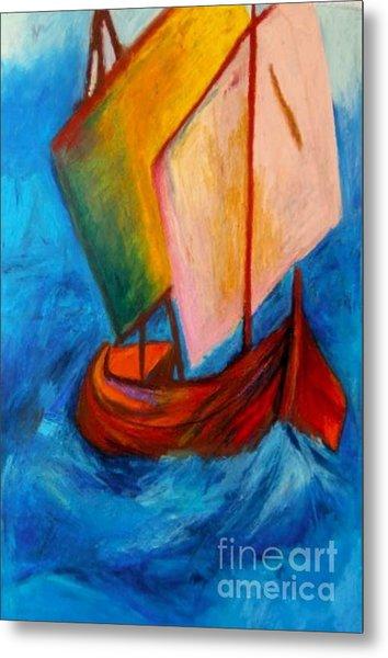 Open Sail Metal Print