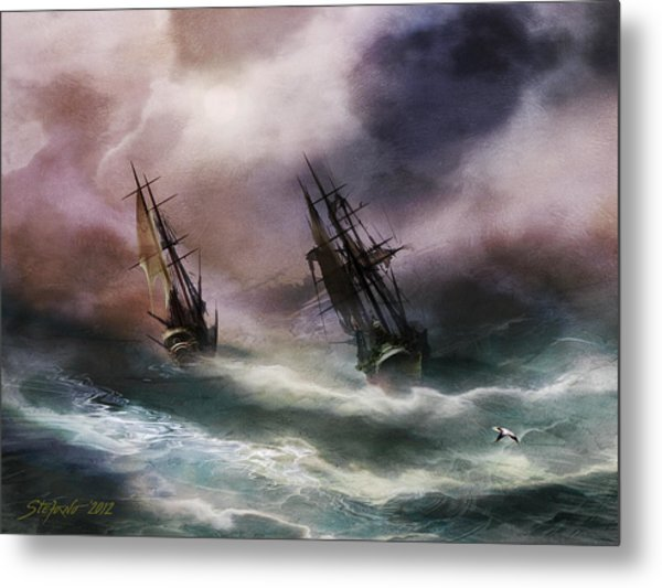 Open Sea Dangerous Drift Metal Print