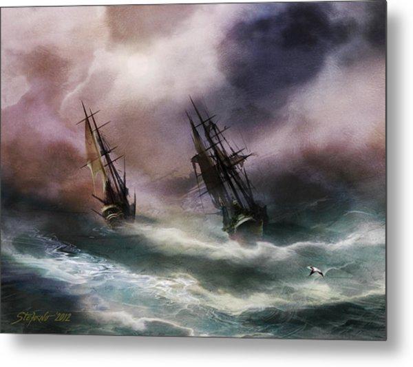 Open Sea Dangerous Drift Metal Print