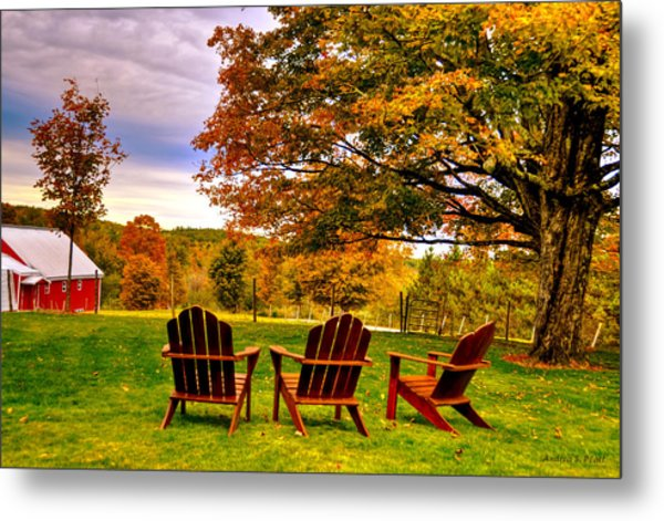 Open Seating Metal Print