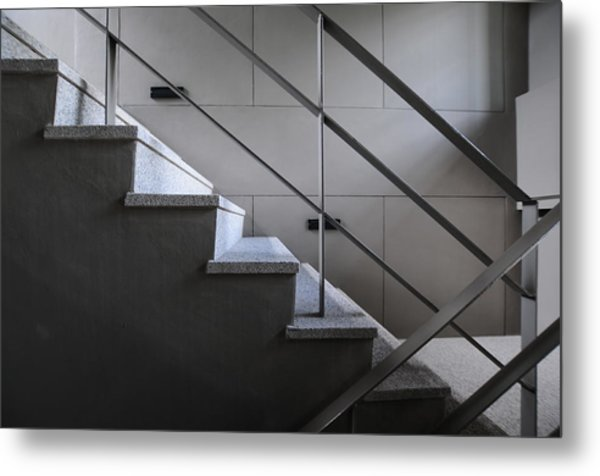 Open Stairwell In A Modern Building Metal Print