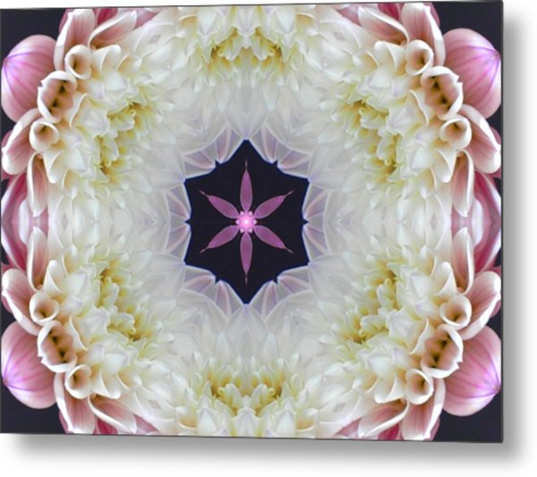 Opening To Love Mandala Metal Print