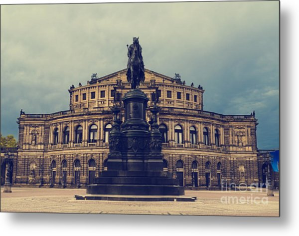Opera House In Dresden Metal Print