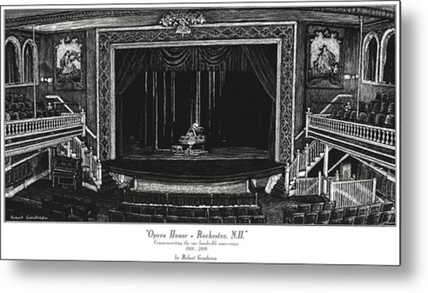 Opera House - Rochester Nh Metal Print by Robert Goudreau