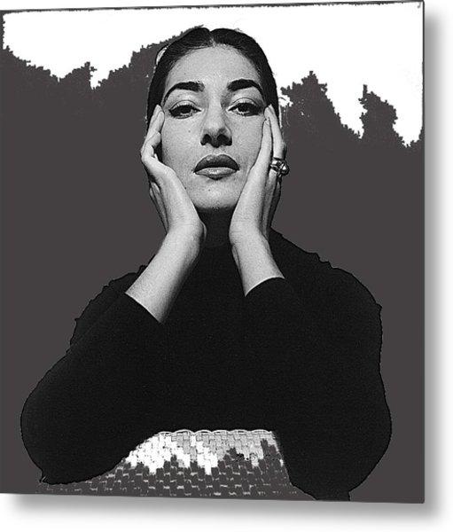 Opera Singer Maria Callas Cecil Beaton Photo No Date-2010 Metal Print