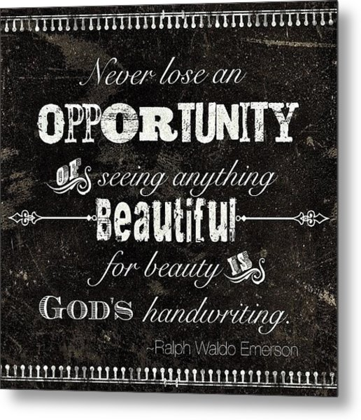 #opportunity #quote My #olw This Year Metal Print