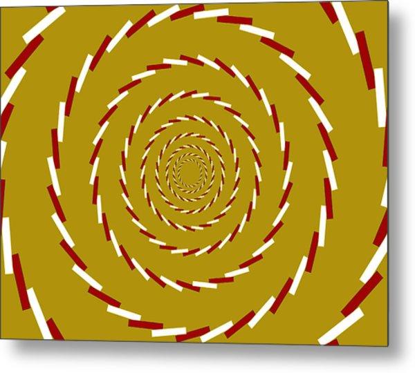 Optical Illusion Whirlpool Metal Print