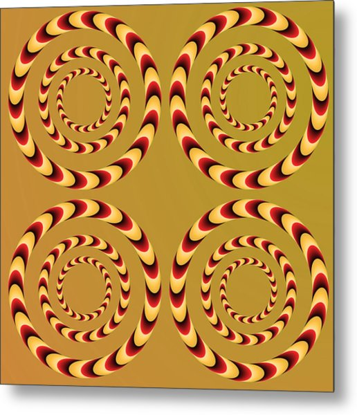 Optical Ilusions Summer Spin Metal Print