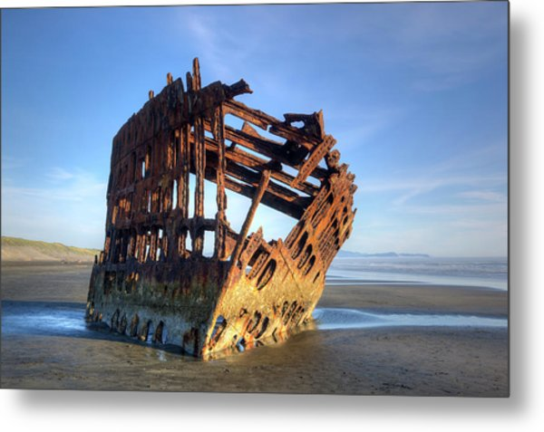 Or, Fort Stevens State Park, Wreck Metal Print by Jamie and Judy Wild