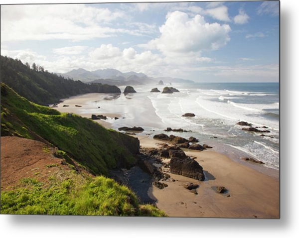 Or, Oregon Coast, Ecola State Park Metal Print