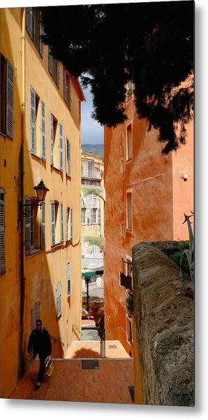 Orange Alley Metal Print