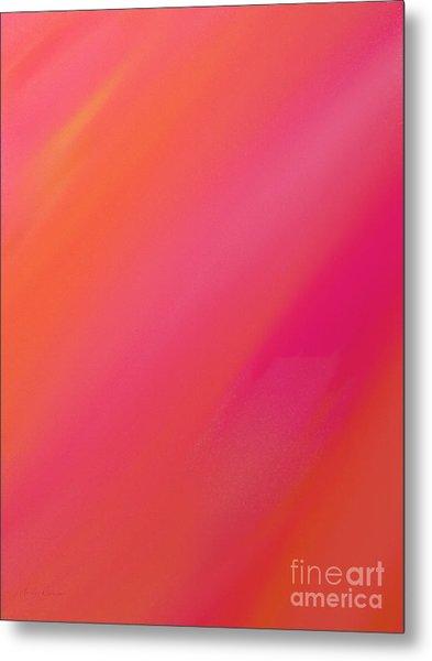Orange And Raspberry Sorbet Abstract 1 Metal Print