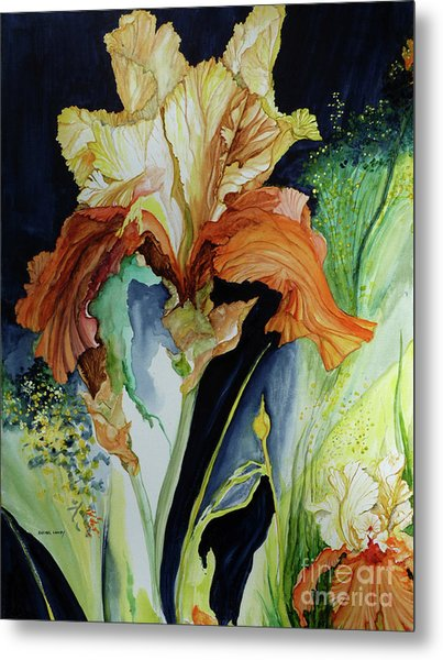 Orange And Yellow Iris Metal Print