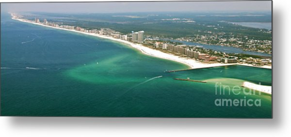 Looking N W Across Perdio Pass To Gulf Shores Metal Print