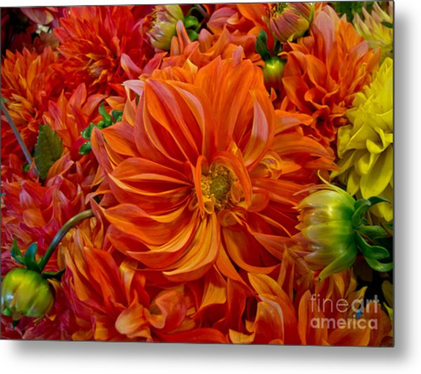 Orange Bouquet Metal Print