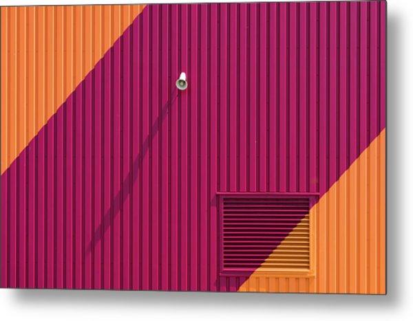 Orange Corners Metal Print by Greetje Van Son