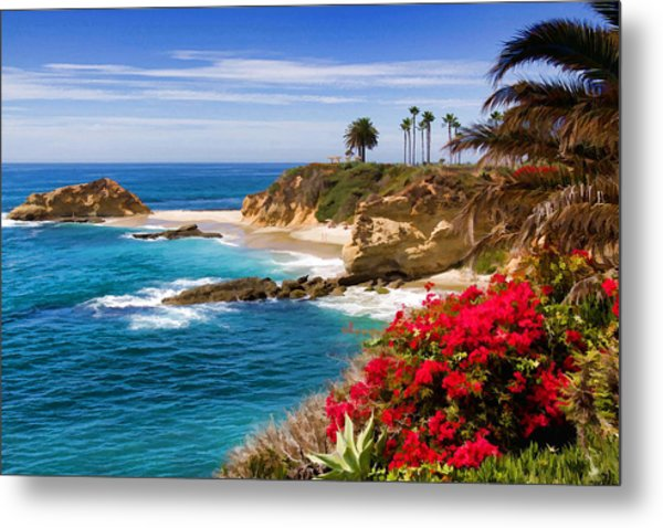 Orange County Coastline Metal Print