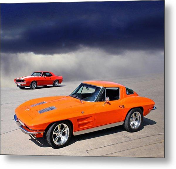 Orange Crush Metal Print