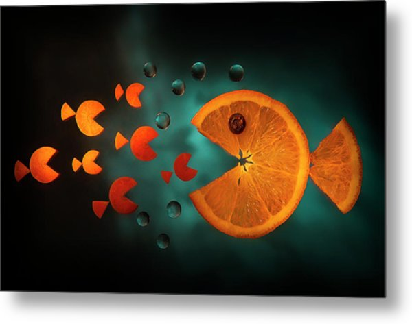 Orange Fish Metal Print by Aida Ianeva