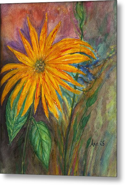 Orange Flower Metal Print by Anais DelaVega