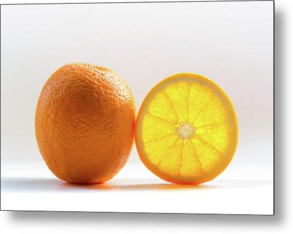 Orange Fruit Composition Metal Print