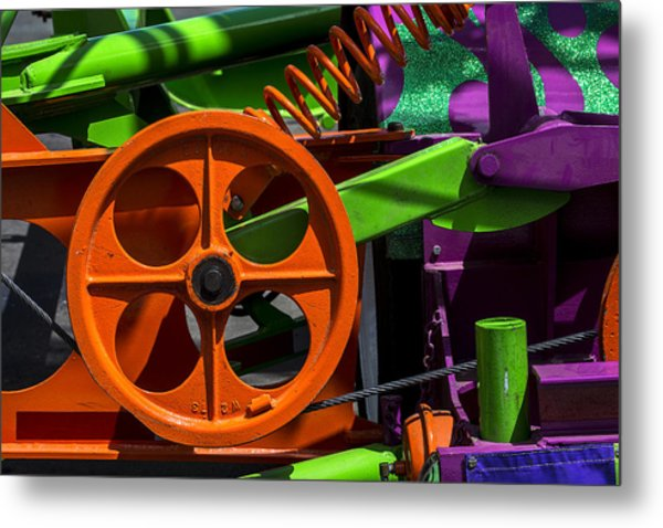 Orange Gear Metal Print
