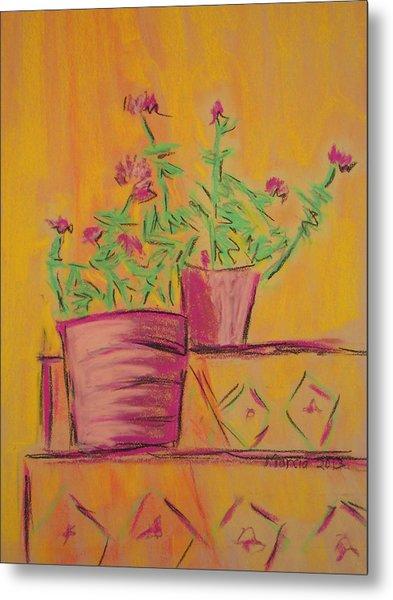 Orange Geraniums Metal Print by Marcia Meade