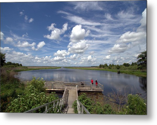 Orange Lake Metal Print