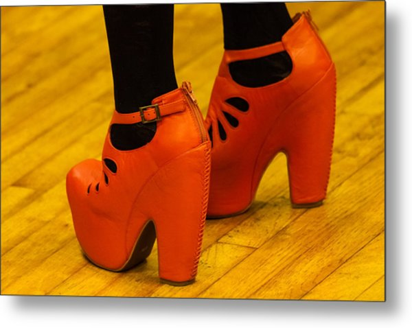 Orange Pair Metal Print