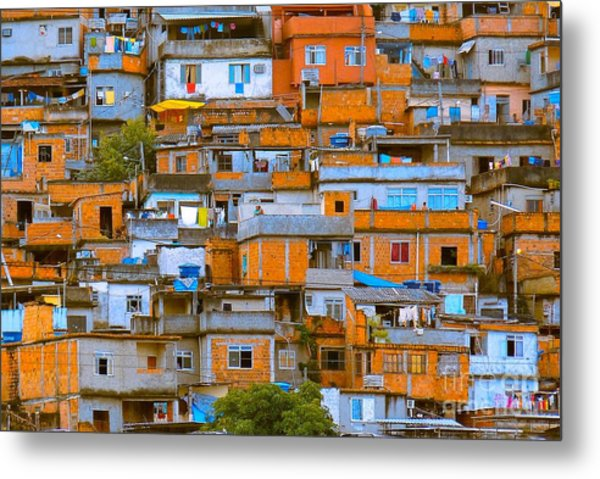 Orange Suburbs Metal Print