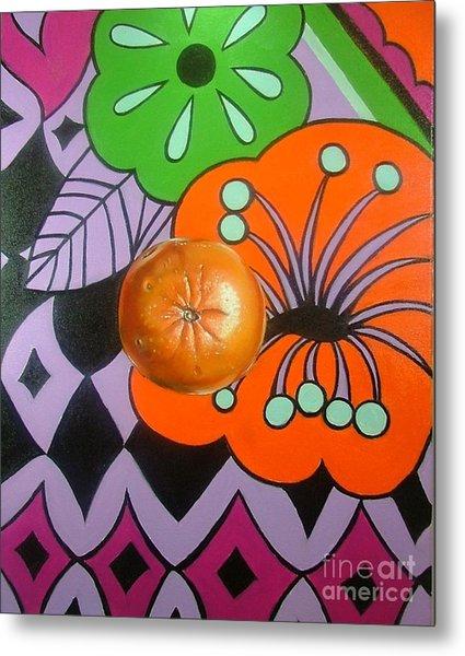 orange Sunshine Metal Print by Shelley Laffal