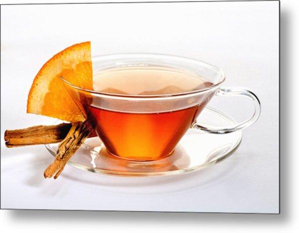 Orange Tea 5528 Metal Print