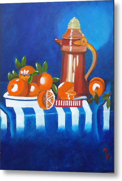 Oranges Are Good For You Metal Print