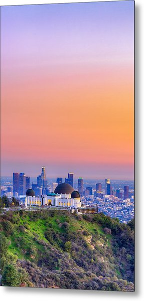 Orangesicle Griffith Observatory Metal Print