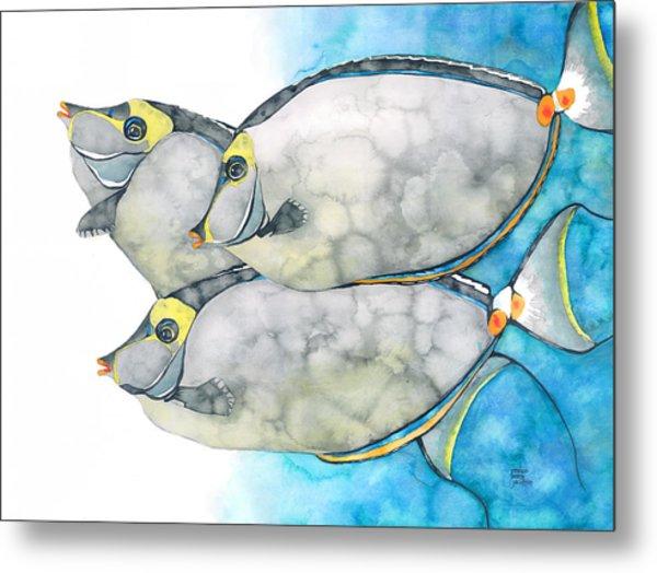 Orangespine Unicornfish Metal Print