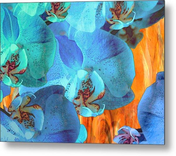 Orchid Cascade Metal Print