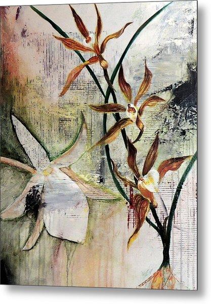Orchid Fields - D2 Metal Print by Vivian Mora